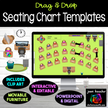 Interactive Classroom Seating Chart Planner with GOOGLE Slides™ | TpT