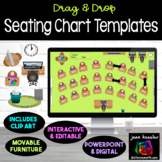 Interactive Classroom Seating Chart Planner with GOOGLE Slides™