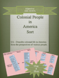 Interactive Colonial People Sort GSE SS3H3c