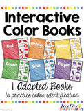 Interactive Color Books: Adapted Books to Practice Colors