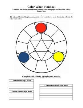 Interactive Color Wheel Handout