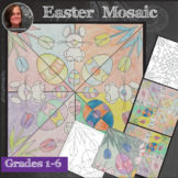 Easter Mosaic - Interactive Coloring Sheets - Easter Art Lesson