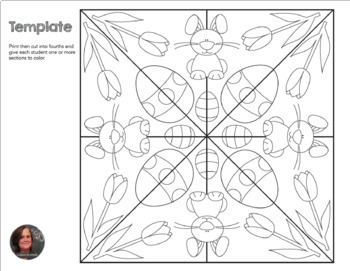 Easter mosaic interactive coloring sheets by a for Easter mosaic coloring pages