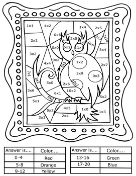 Interactive Coloring Sheets + Basic Math Pop Art