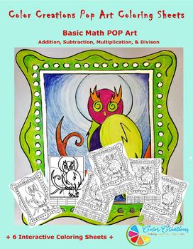Interactive Coloring Sheets + Basic Math Pop Art