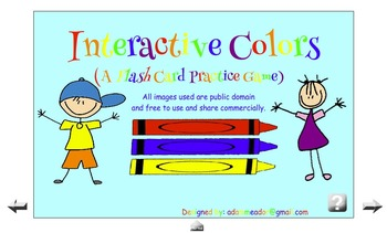 Interactive Colors Game