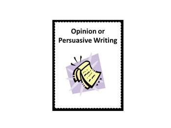 Interactive Common Core Opinion or Persuasive Writing Lesson