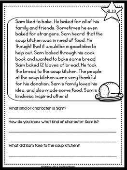 Interactive Common Core RL.2.3 Passages with Comprehension Questions