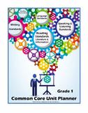 Grade 1: Interactive ELA/Literacy Common Core Unit Planner w/Dropdown Standards