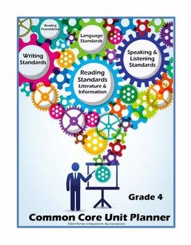 Grade 4: Interactive ELA/Literacy Common Core Unit Planner w/Dropdown Standards