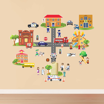 Interactive Community Heroes Wall Play Set