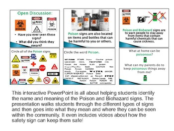 Interactive Community Safety Sign Identification Powerpoints!
