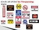 Interactive Community Safety Sign Ppt - Identifying the No Trespassing sign