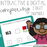 Interactive Comparing 3 Digit Numbers for Google Drive Classroom