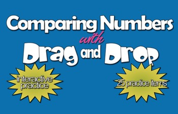 Interactive Comparing Numbers w/Drag & Drop (1.NBT.3.B)