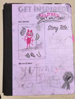 Interactive Composition Notebook Cover for Creative Writers