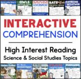 Interactive Reading Comprehension GROWING BUNDLE Science Social Studies