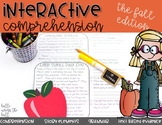 Comprehension Passages and Questions with Grammar {Fall}