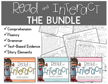 Comprehension Passages with Questions and Grammar {THE BUNDLE}