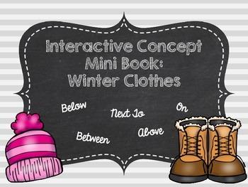Interactive Concept Mini Book: Winter Clothes