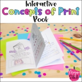 Interactive Concepts of Print Book for Kindergarten or First Grade