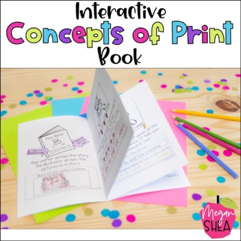 Interactive Concepts of Print Book for Kindergarten or Fir