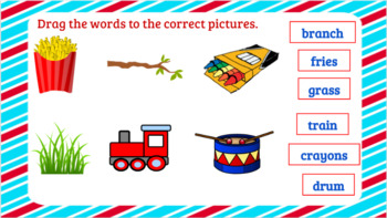 Word Work-Interactive Consonant Blends br, cr, dr, fr, gr, pr, tr Activities