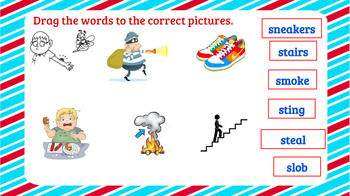 Interactive Consonant Blends sk, sc, sp, sn, sm, st, sw, sl, Activities