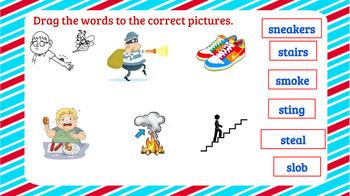 Word Work Interactive Consonant Blends sk, sc, sp, sn, sm, st, sw, sl Activities