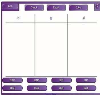 Interactive Consonant Cluster