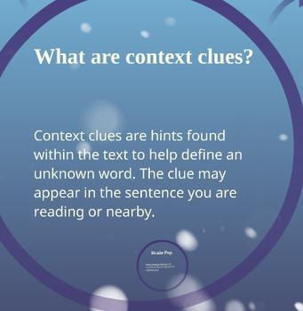 Interactive Context Clues Lesson/Presentation