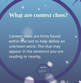 Interactive Context Clues Lesson/Presentation