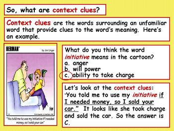 Interactive Context Clues PPT for Middle and High School Students