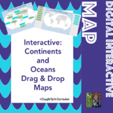 Interactive Continents and Oceans Map Drag & Drop