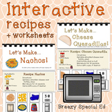 Visual Recipes for Nachos and Cheese Quesadillas for Special Education