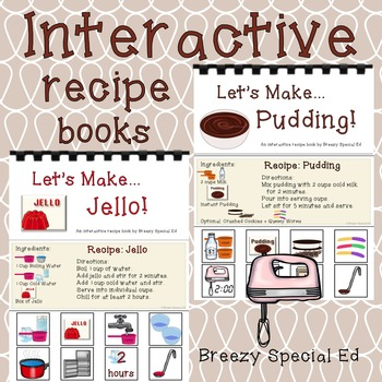 Interactive Cooking Lessons: Visual Recipes for Pudding and Jello - Special Ed