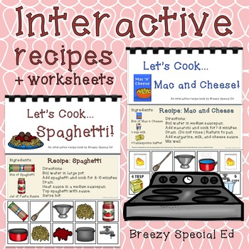 Interactive Cooking Lessons / Visual Recipes: Spaghetti + Macaroni and Cheese