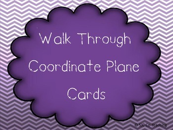 Interactive Coordinate Plane Cards