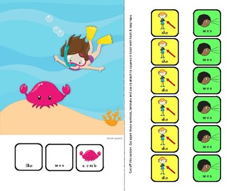Interactive Core Vocabulary Book: I See Ocean Animals