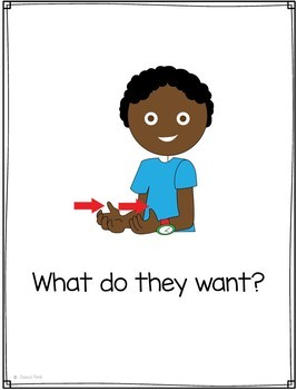 Interactive Core Vocabulary Book: They Want...
