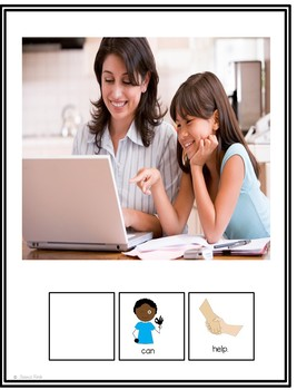 Interactive Core Vocabulary Book: Who Can Help?