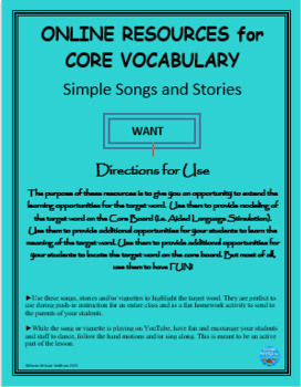 Interactive Core Vocabulary Stories: I WANT COOKIES   NO PREP