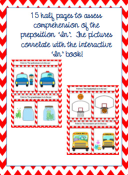 Interactive Core Word Book & Comprehension Activity 'IN'