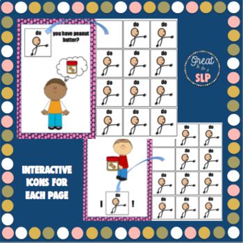Interactive Core Word Book 'Do' for AAC users