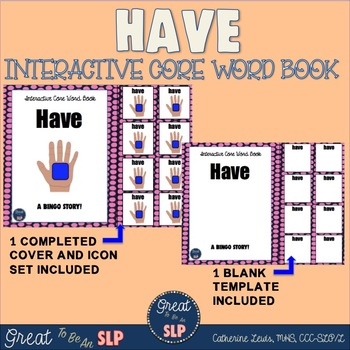 Interactive Core Word Book: HAVE