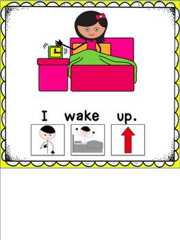 "Interactive Core Word Book/Morning Routine: ""I"" (+Editable Symbol Version)"