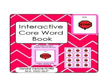 Interactive Core Word Book- STOP