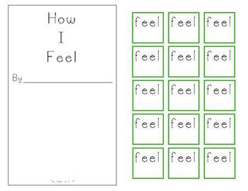 "Interactive Core Word Book - ""feel"""