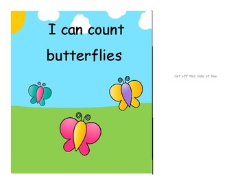 Interactive Counting Book-Butterflies