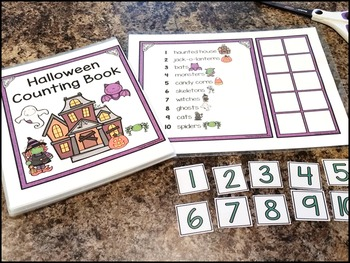 Interactive Counting Book - Halloween Numbers 1-10